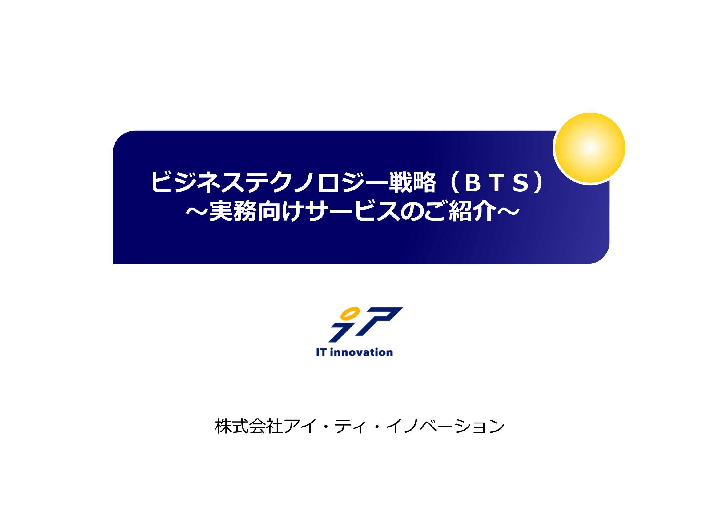 ビジネステクノロジー戦略サービス(BTS)